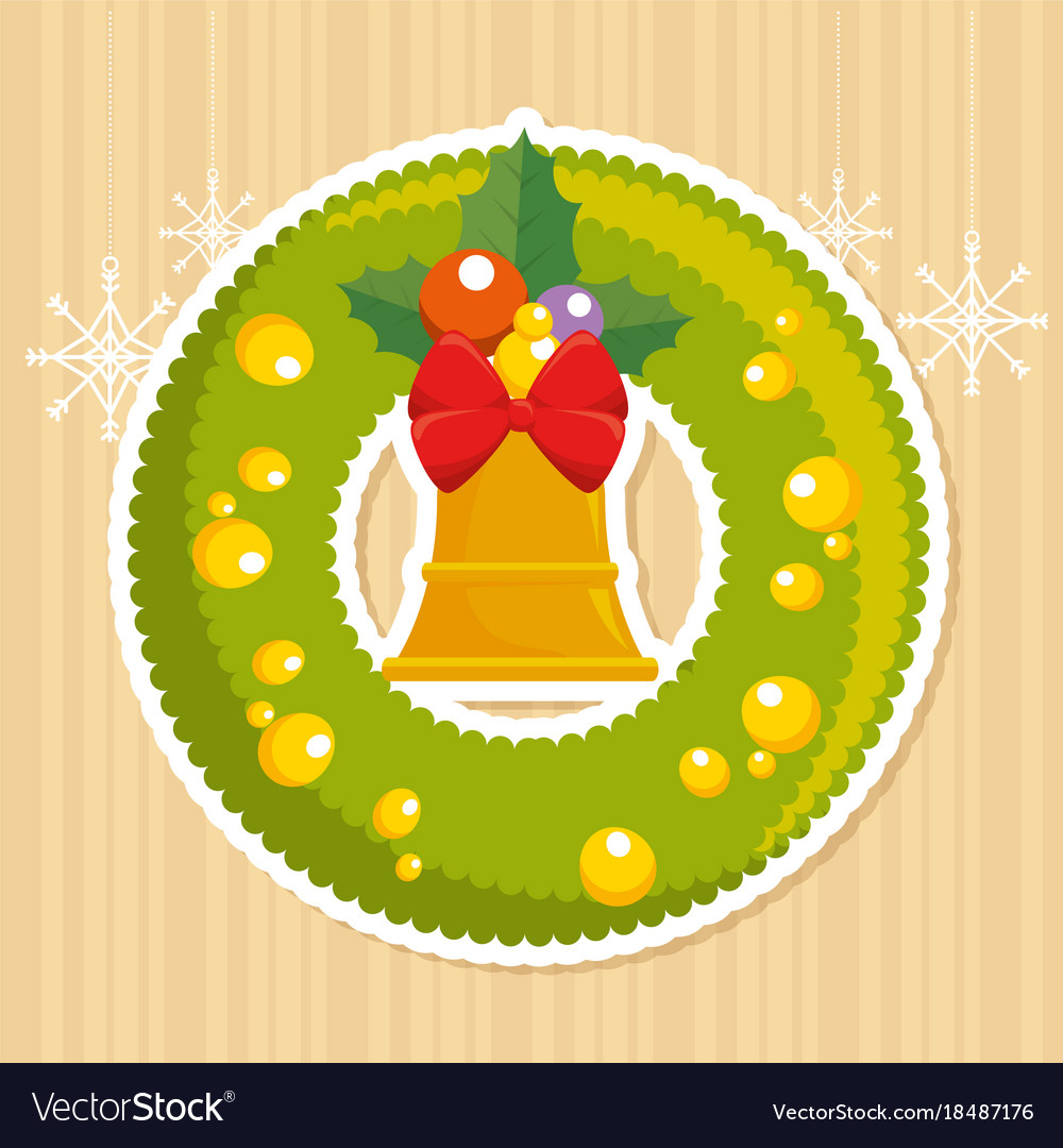 Merry Christmas Decoration Royalty Free Vector Image