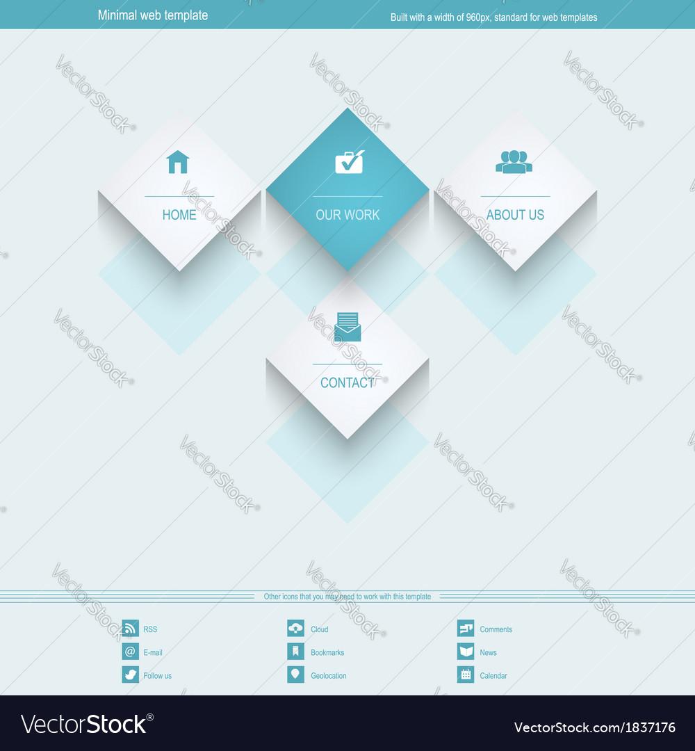 Corporate Templates | Minimal Web Template For Corporate Or Portfolio Vector Image
