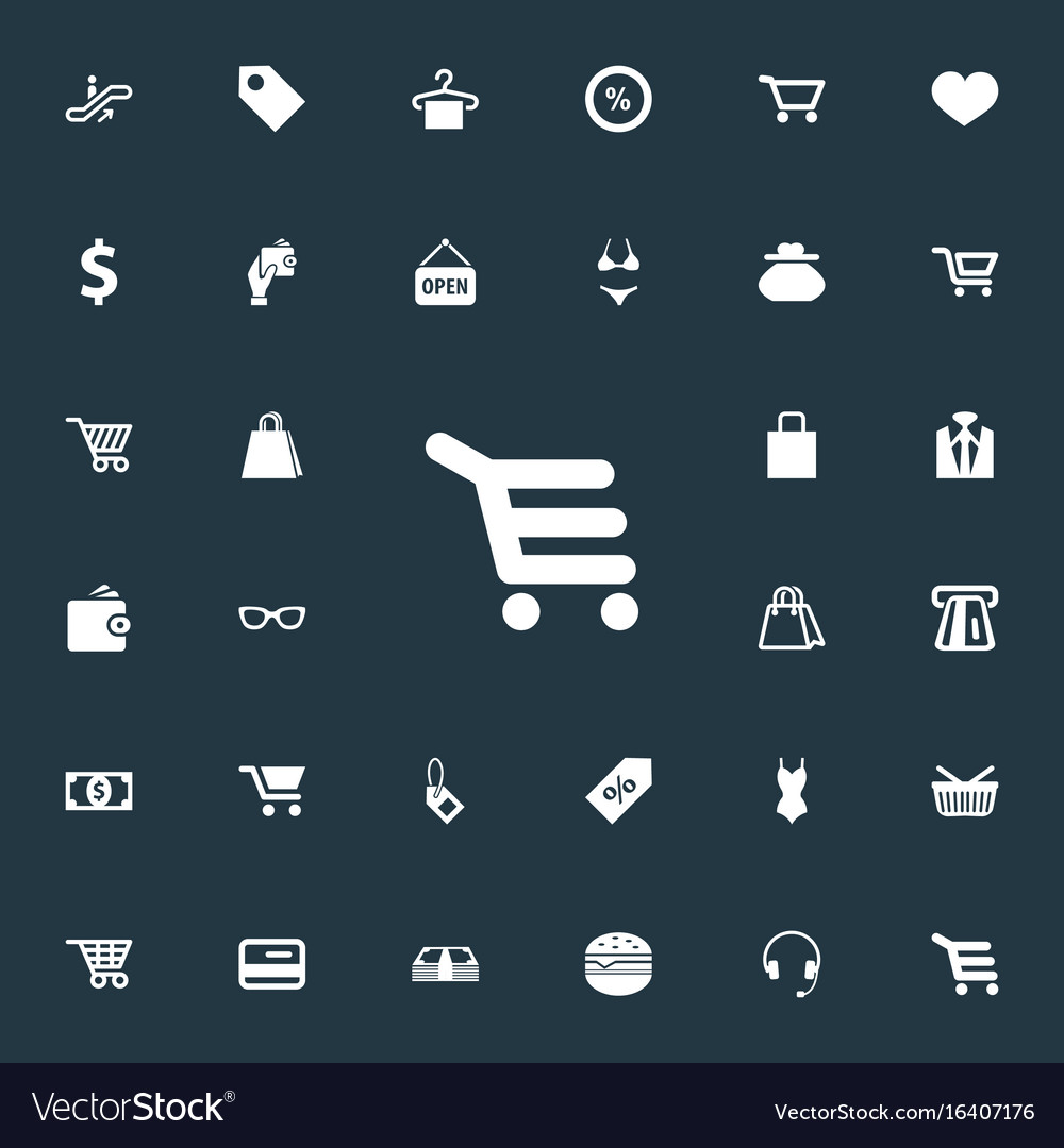 Set of simple sale icons