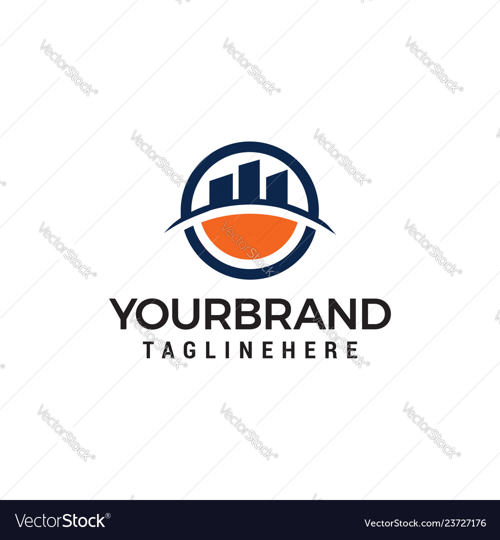 Town building logo design template