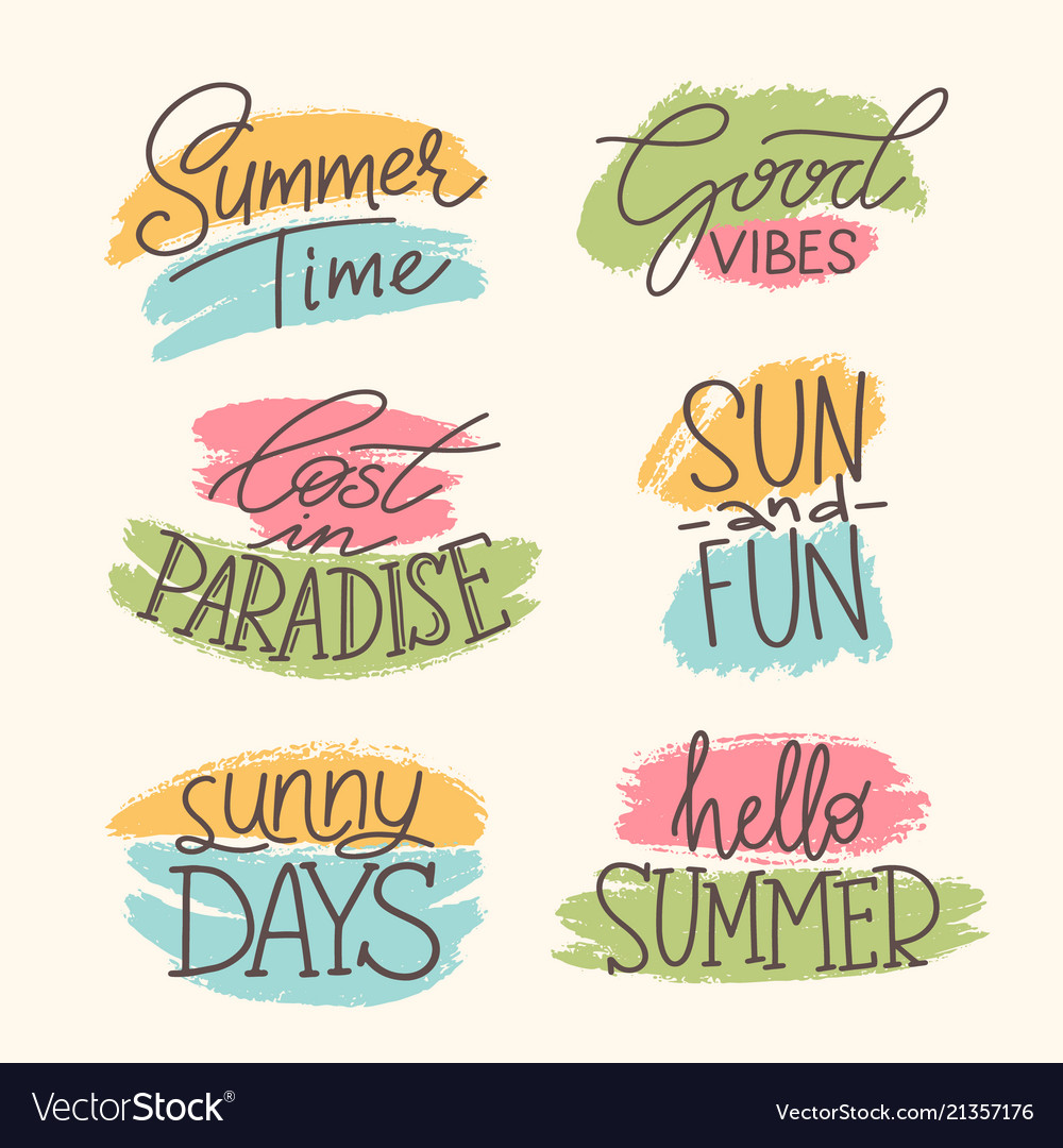 Tropical summer lettering