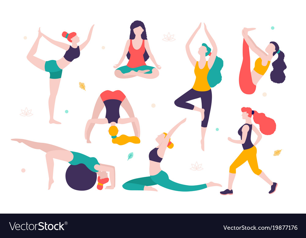 cdn2 vectorstock com i 1000x1000 71 76 women doing rh vectorstock com yoga vector poses yoga vector free download