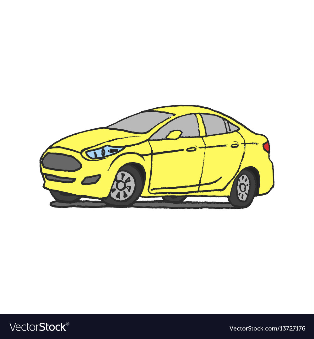 Yellow car doodle