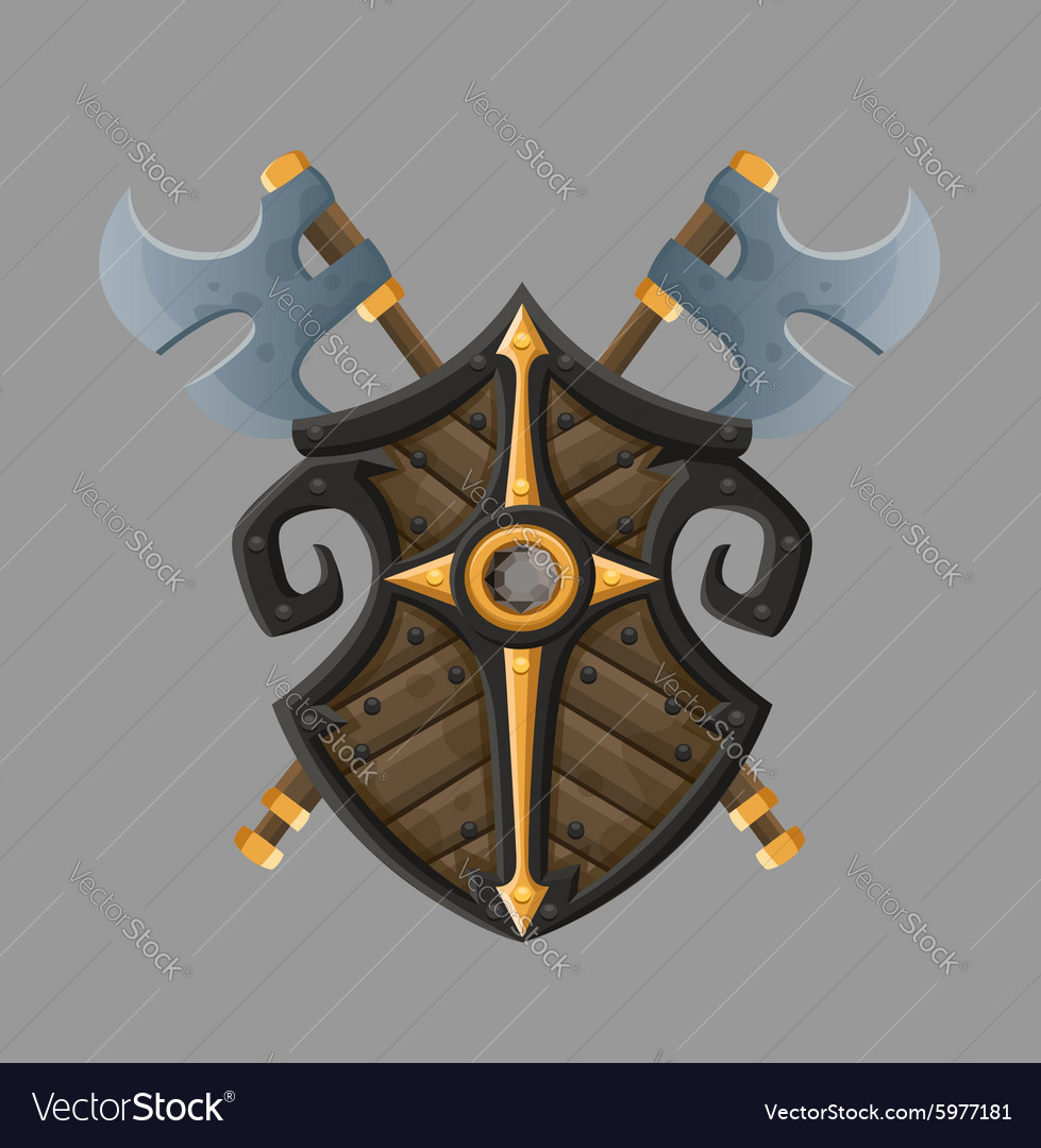 Cartoon black shield