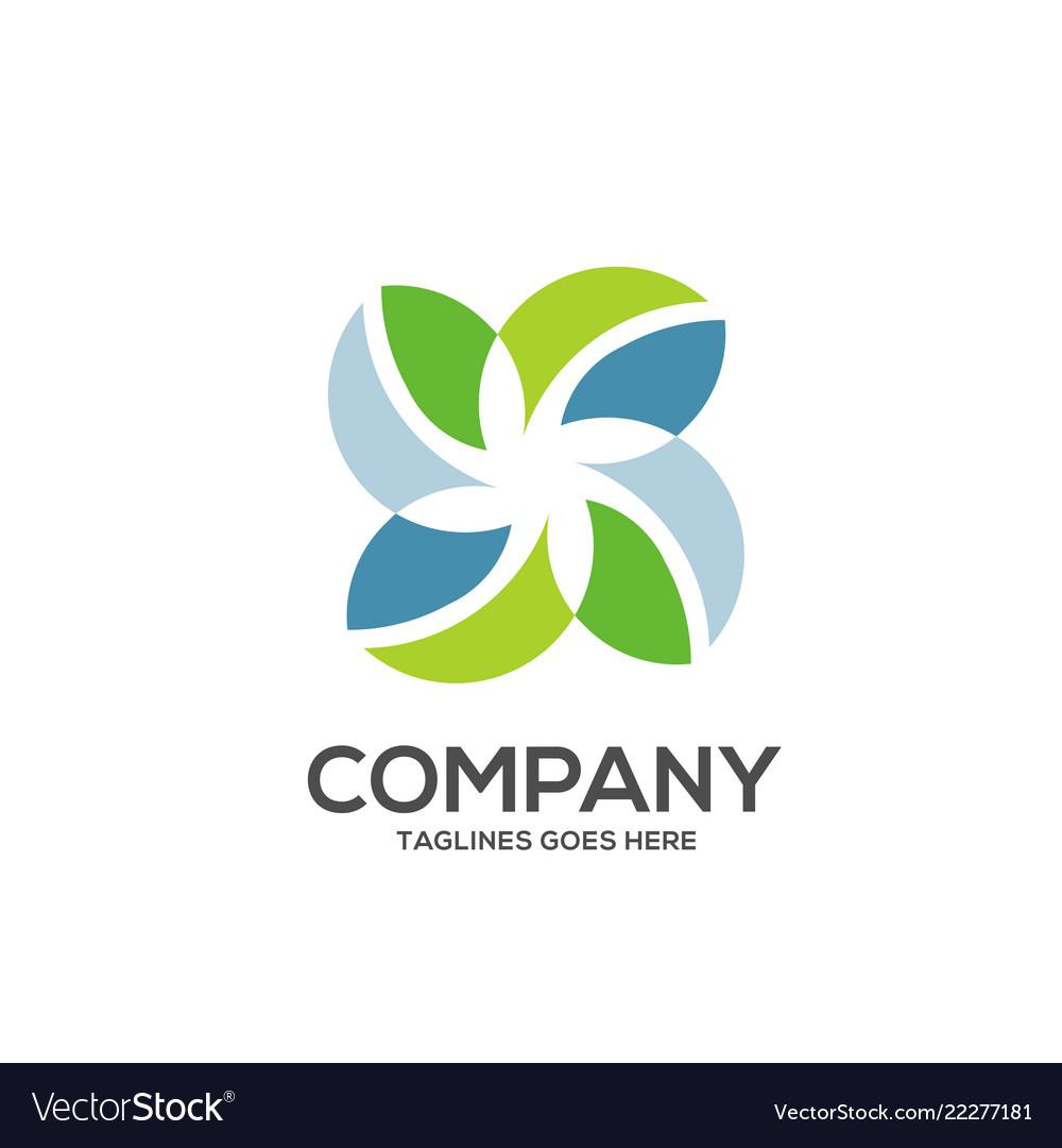 Eco environment green leaf nature logo