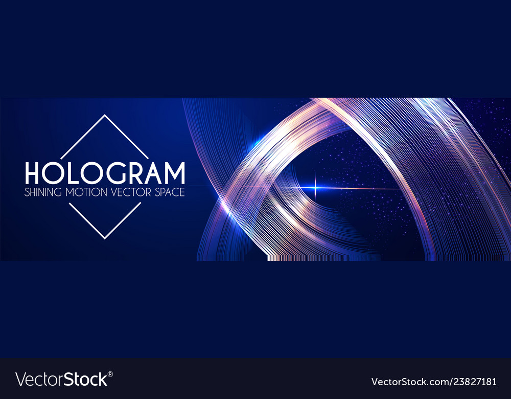 Hologram abstract background with motion lights