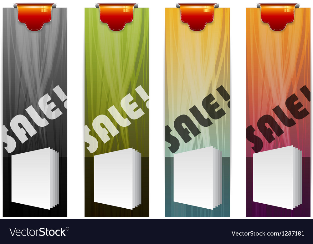 Product sales flyers vector image