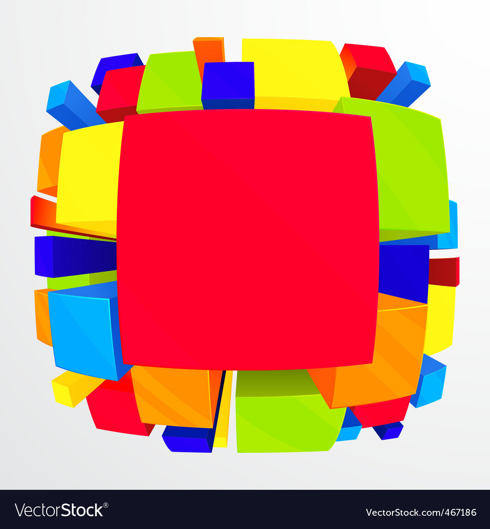3D colorful abstract background vector image