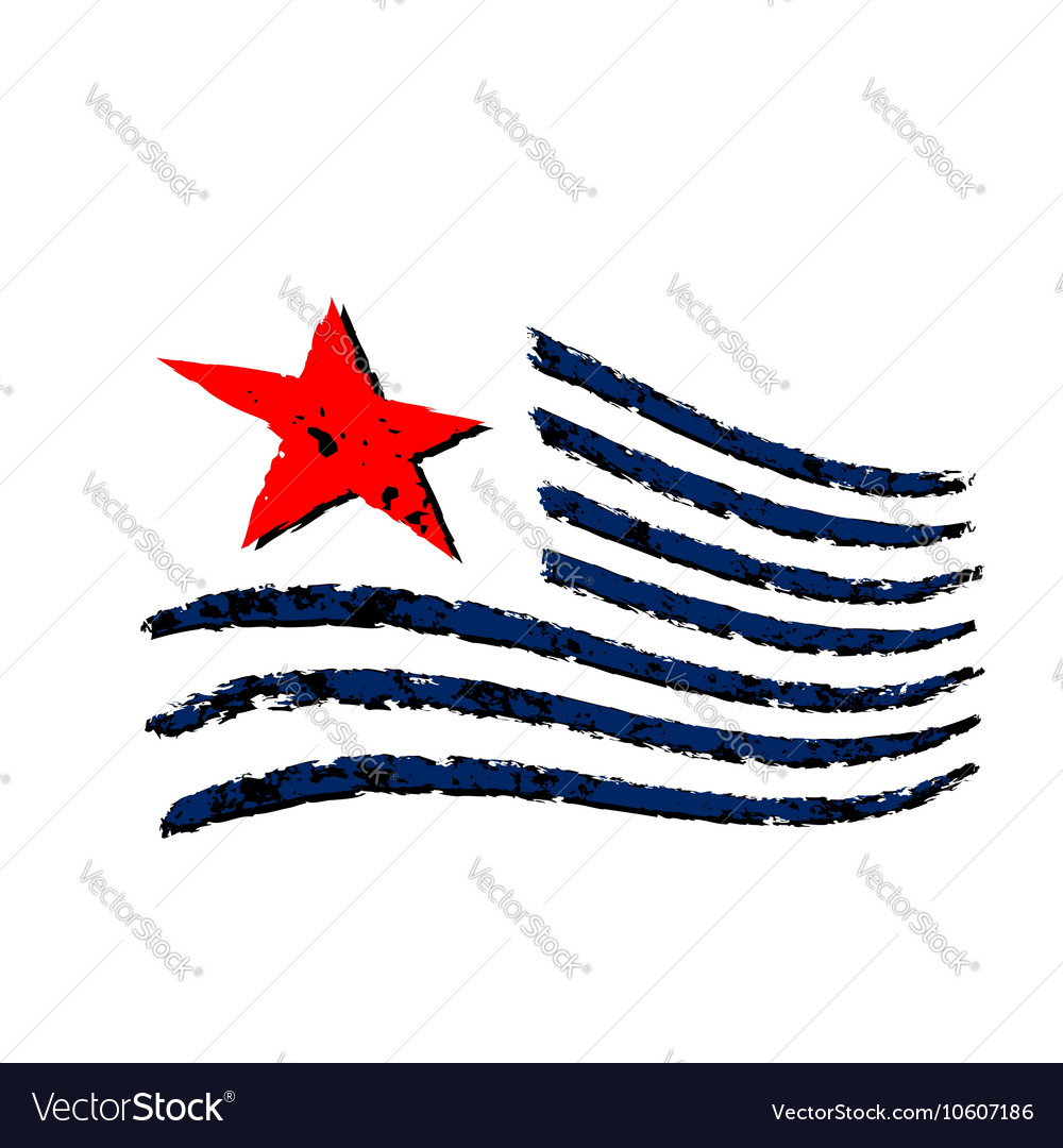American wave flag symbol Independence Day