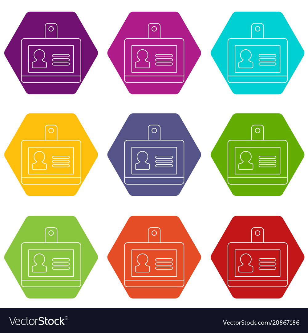 Badge office icons set 9