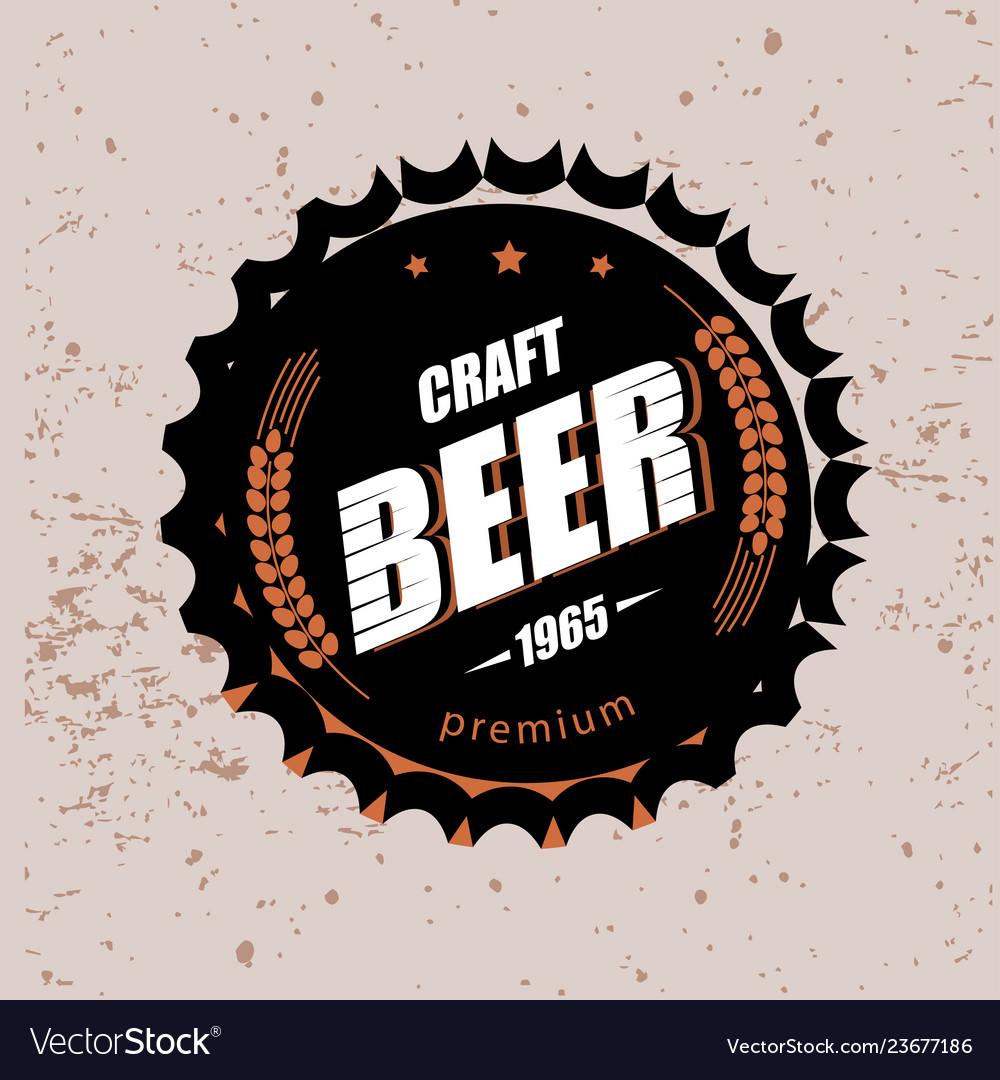 Beer cap stylized symbol emblem brewery design