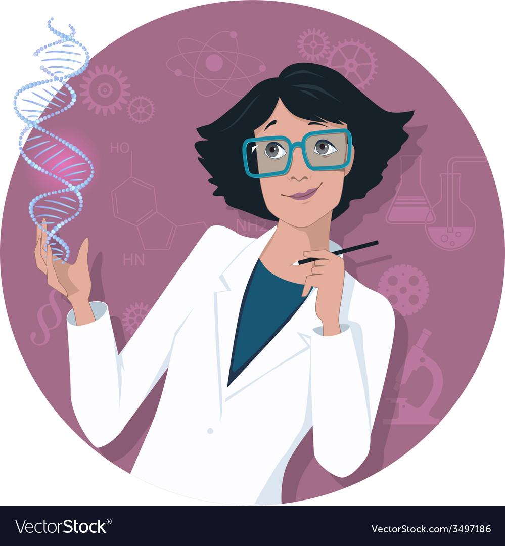 female scientist royalty free vector image vectorstock vectorstock