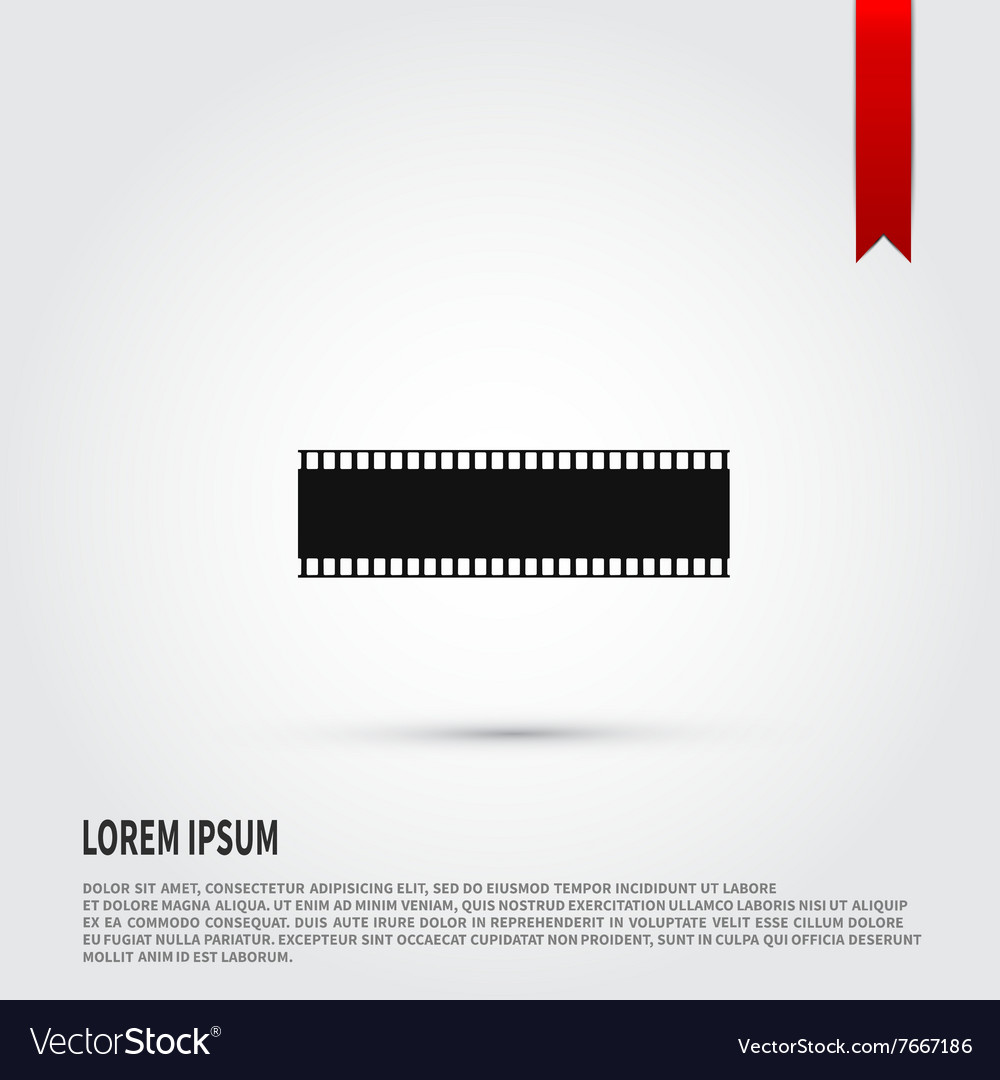 Film strip icon Flat design style Template
