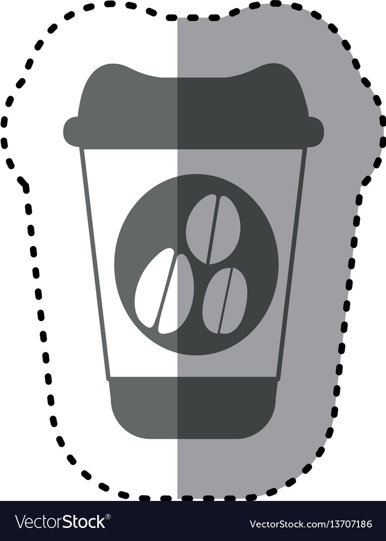 Sticker monochrome silhouette glass disposable for