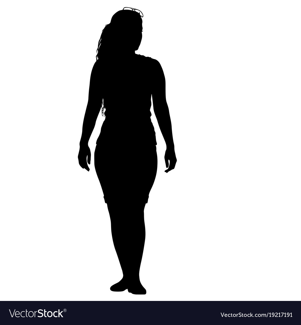 Standing Woman silhouette photo