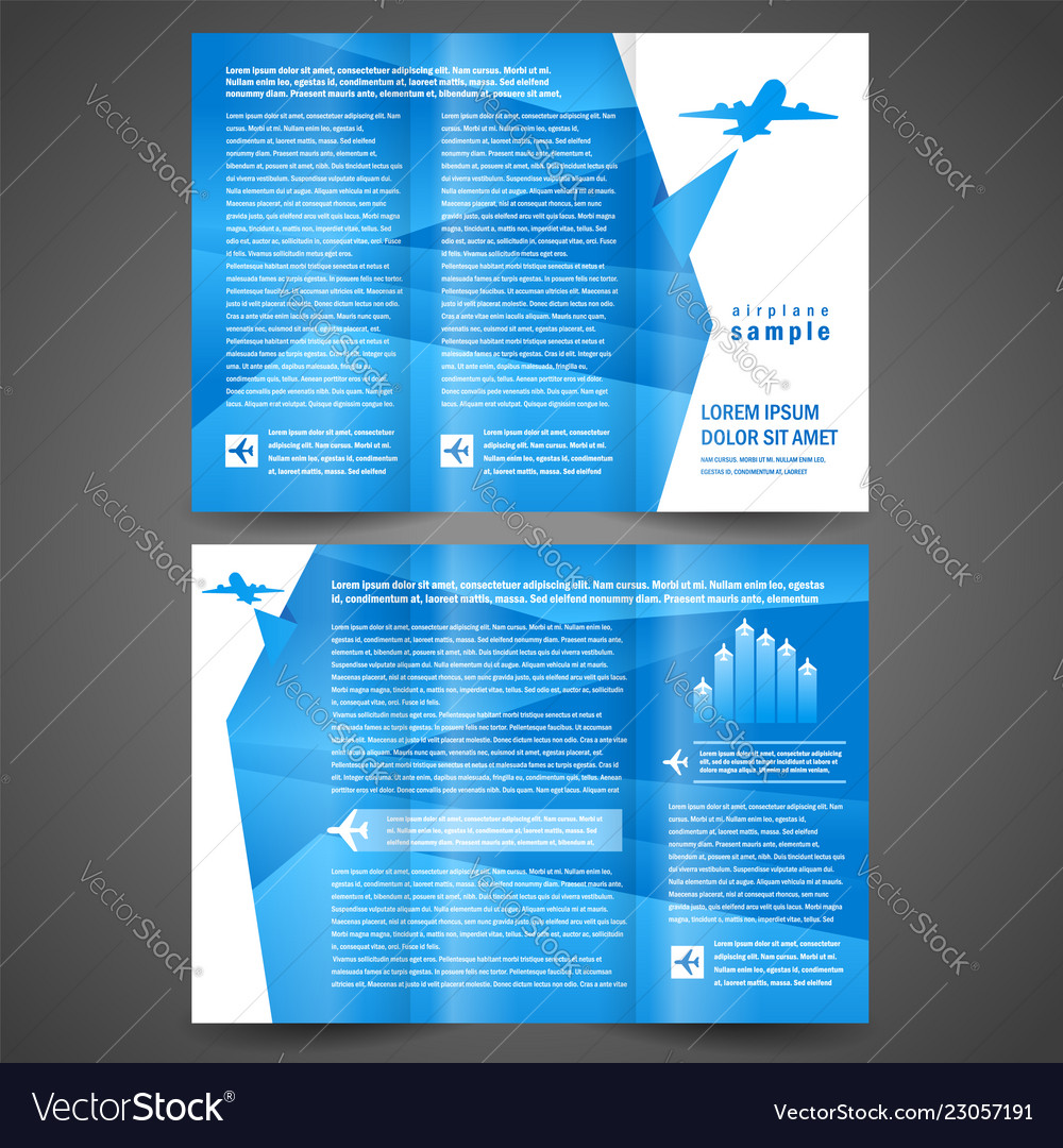 Brochure airplane flight tickets air fly