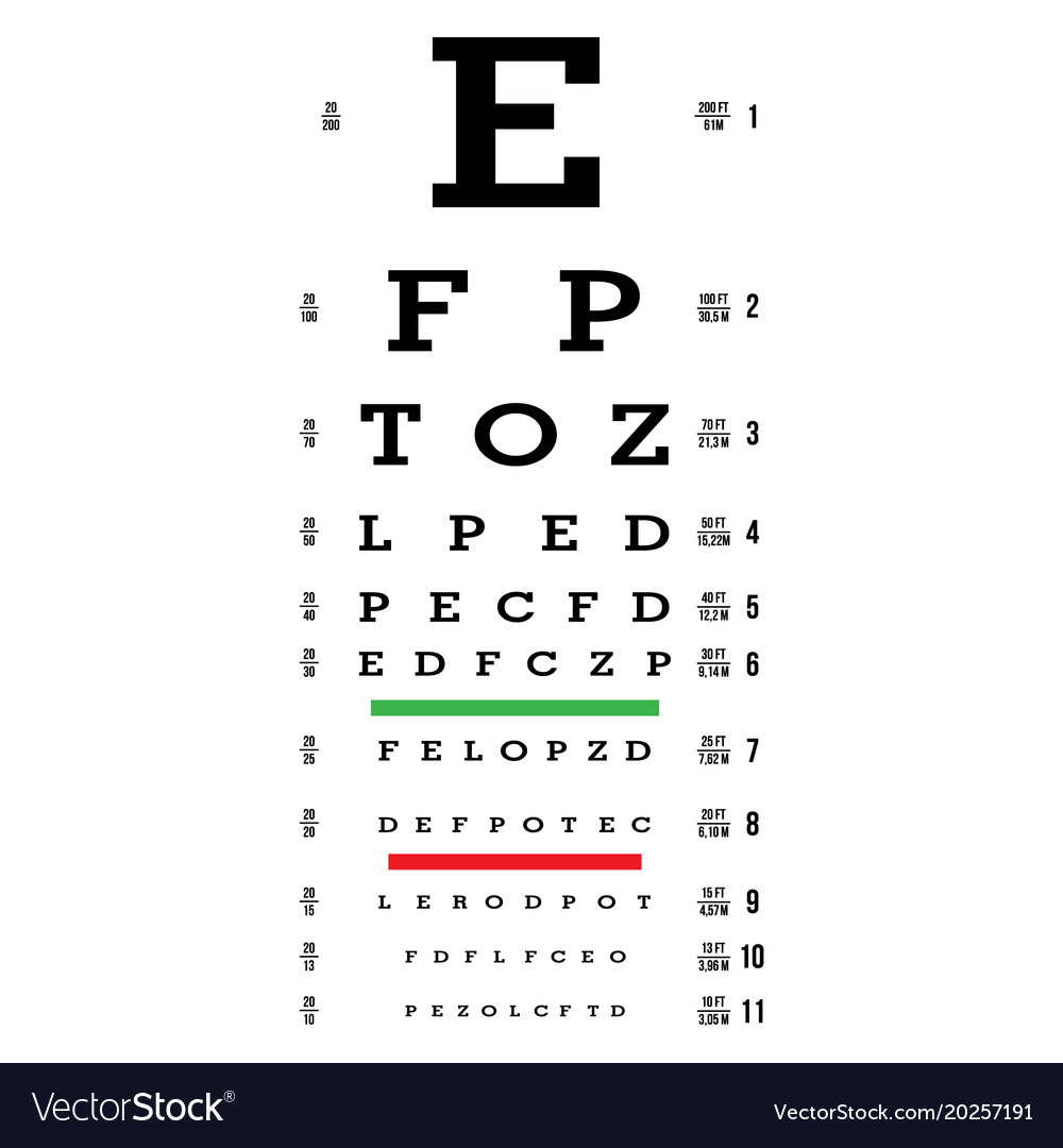 It's just a photo of Bewitching Printable Eye Test Charts