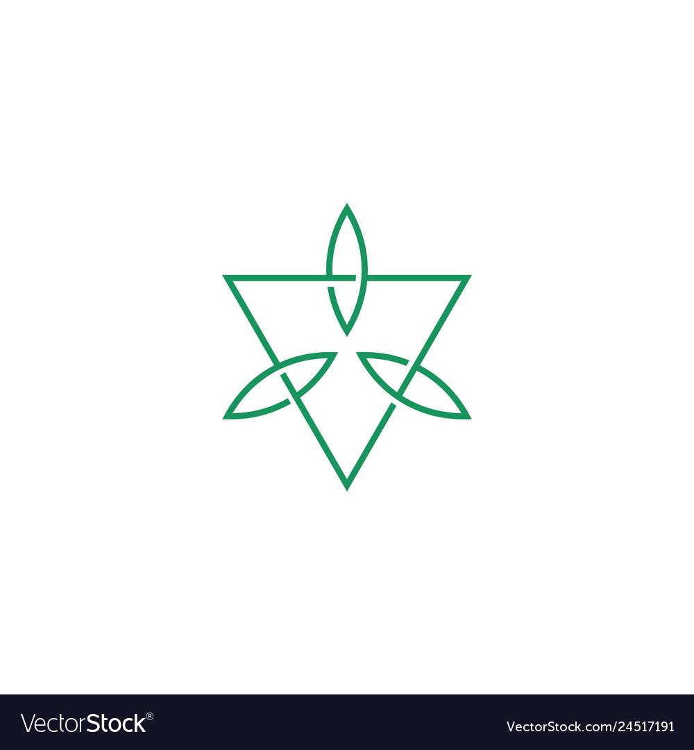 Leaf leaves triangle logo icon