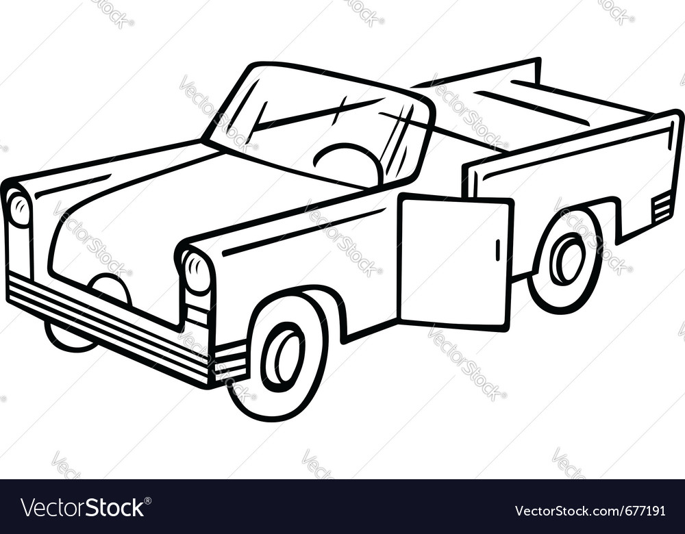 Old fashioned car Royalty Free Vector Image - VectorStock