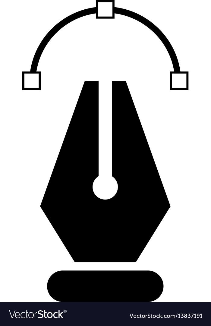 pen tool icon royalty free vector image vectorstock