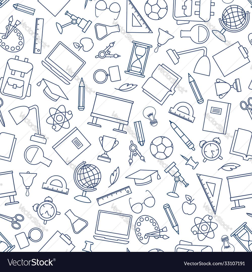 School education seamless pattern education