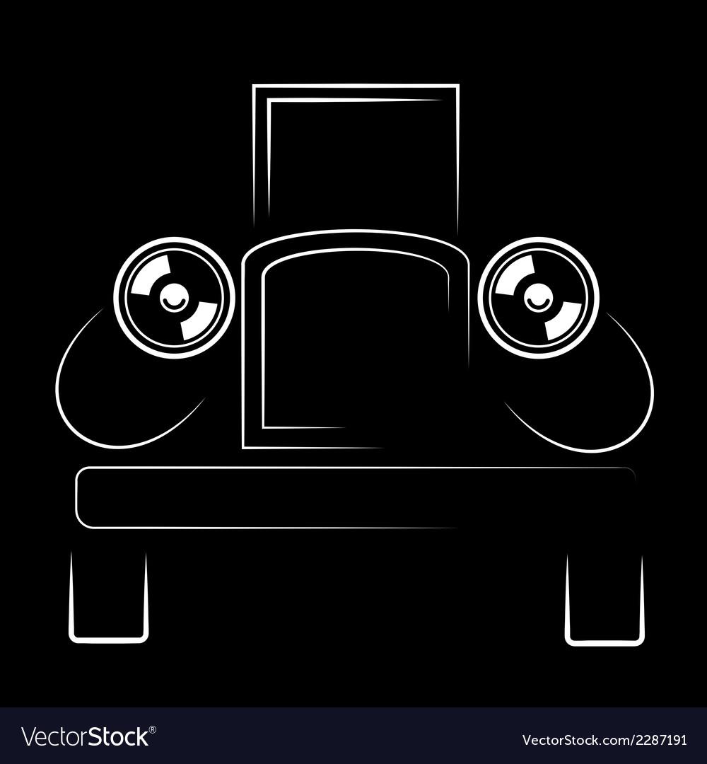 Vehicle retro silhouette