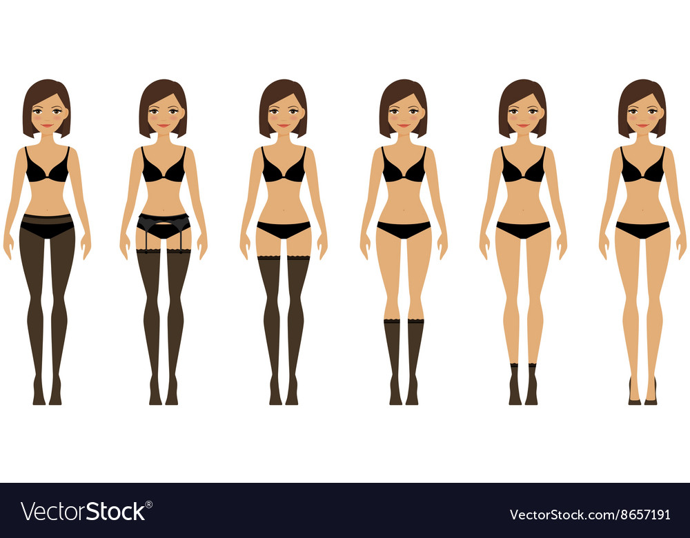 Women in different types of lingerie vector image
