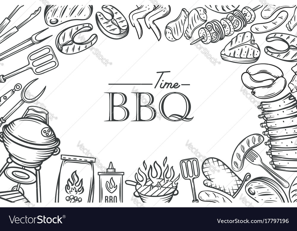 barbecue poster template royalty free vector image