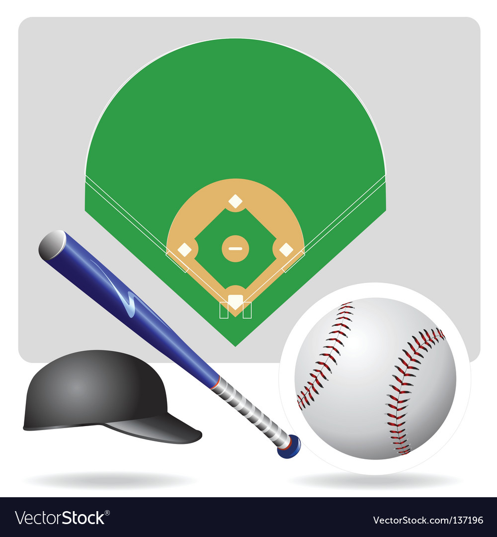 Baseball field ball and accessories
