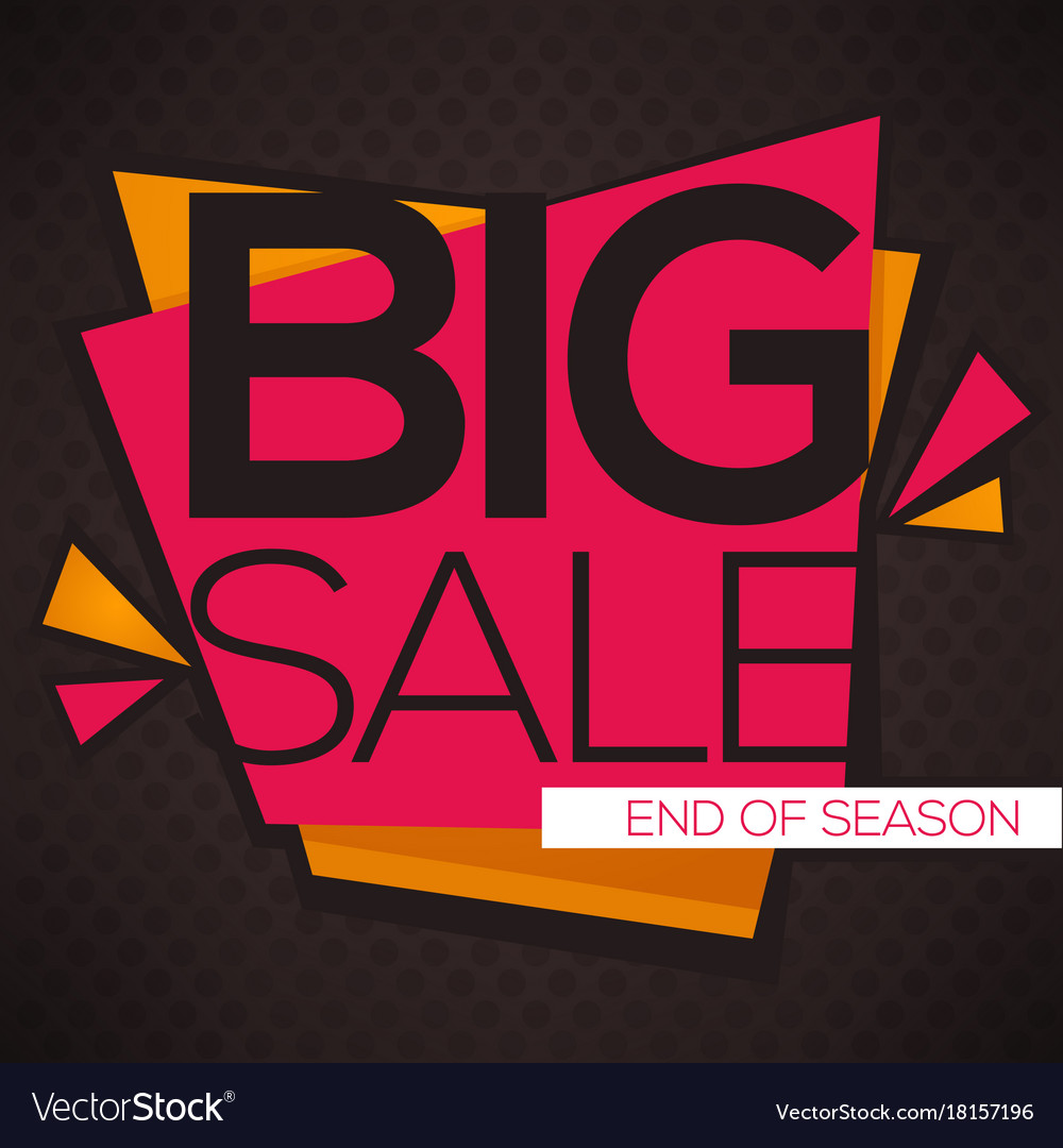 big sale flyer template with lettering royalty free vector