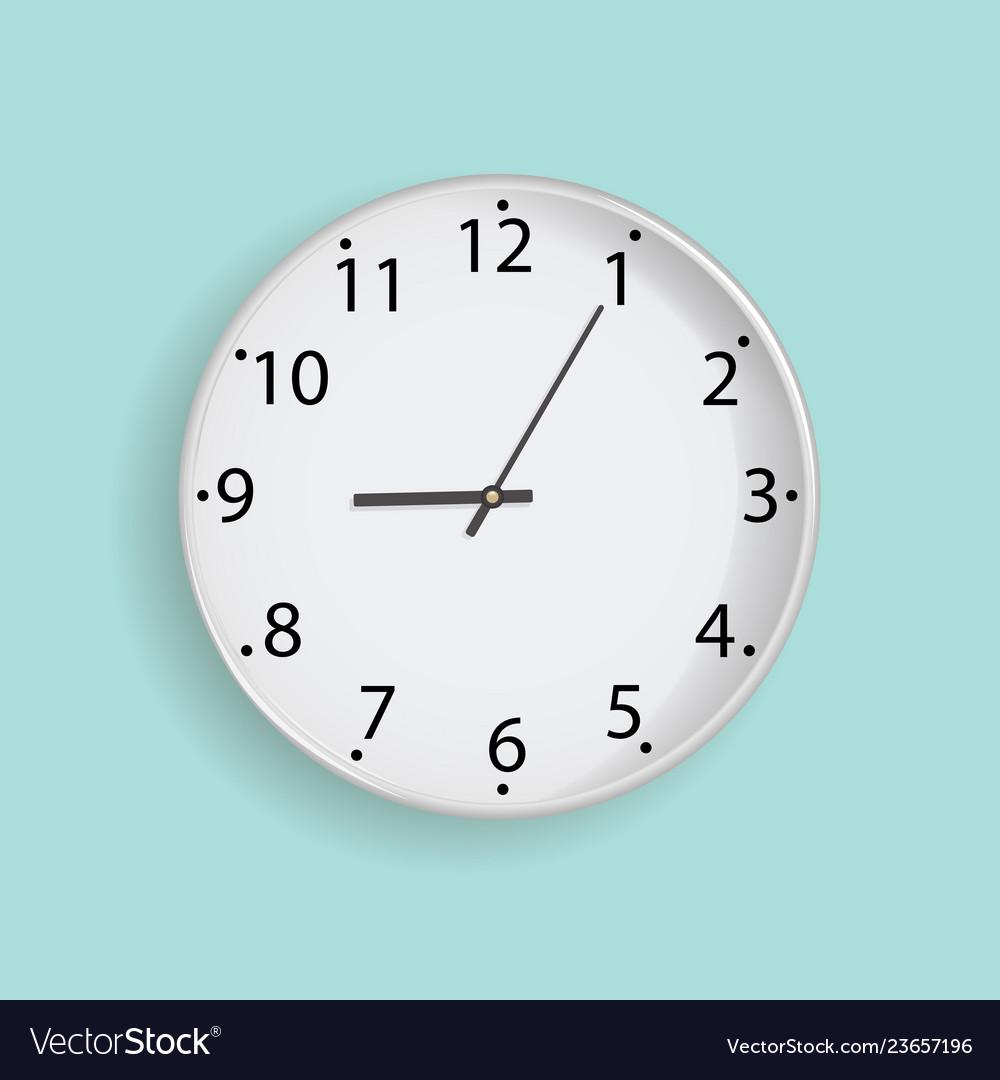 Clock on mint background
