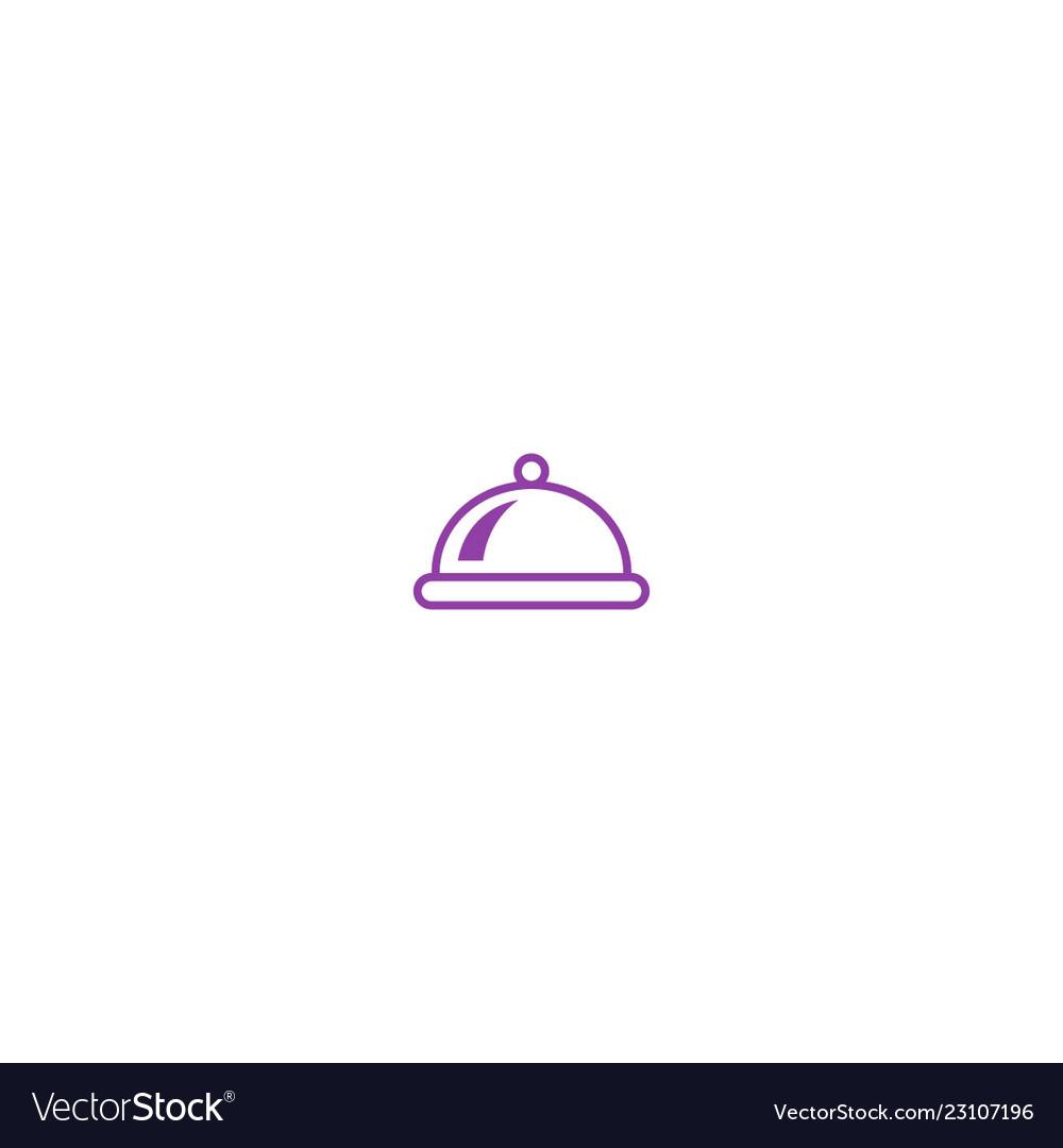 Food tray menu business logo
