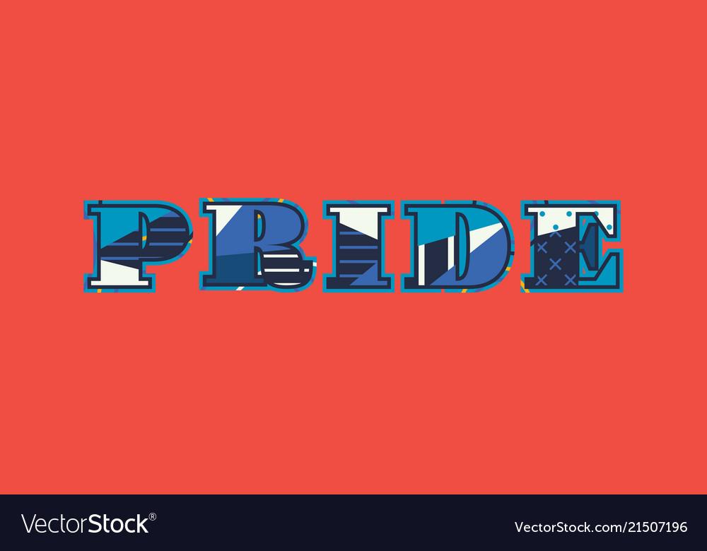 Pride concept word art