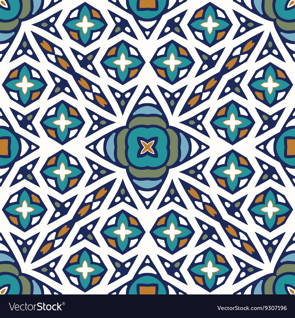 Seamless hand drawn ethnic texture
