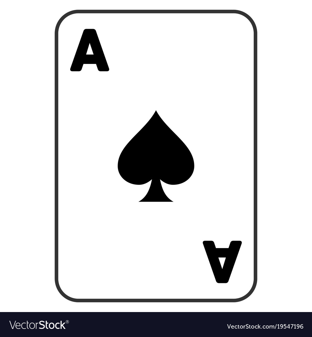 spade playing card vector  Spades ace playing card flat icon