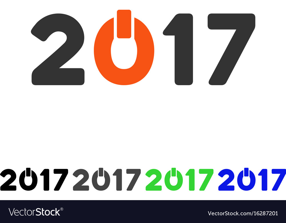 2017 switch on flat icon