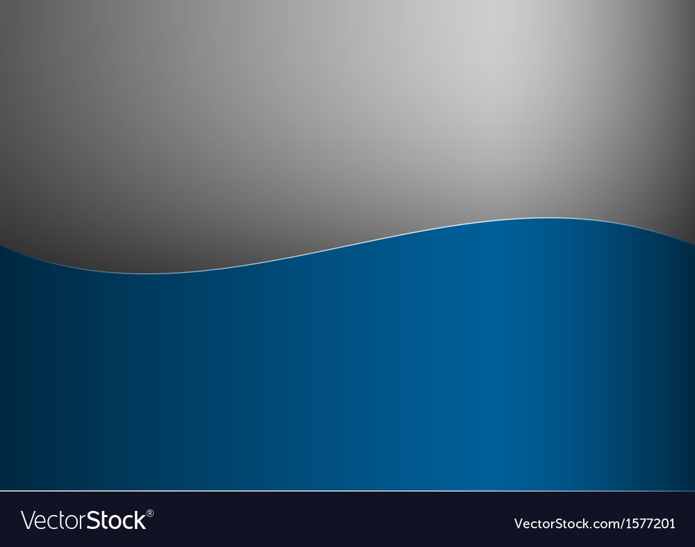 Background blue stripe wave one grey vector image