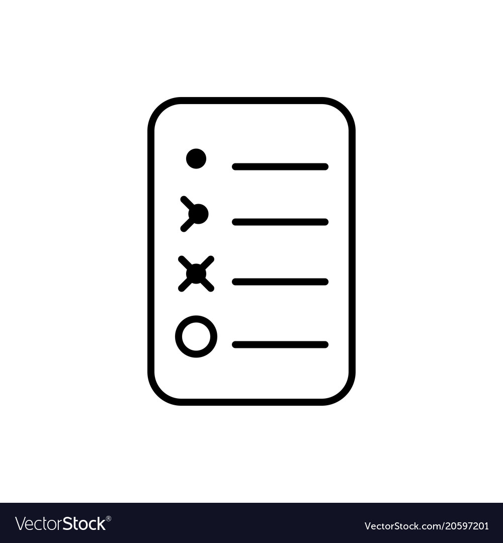 bullet journal icon simple papers task tracker vector image