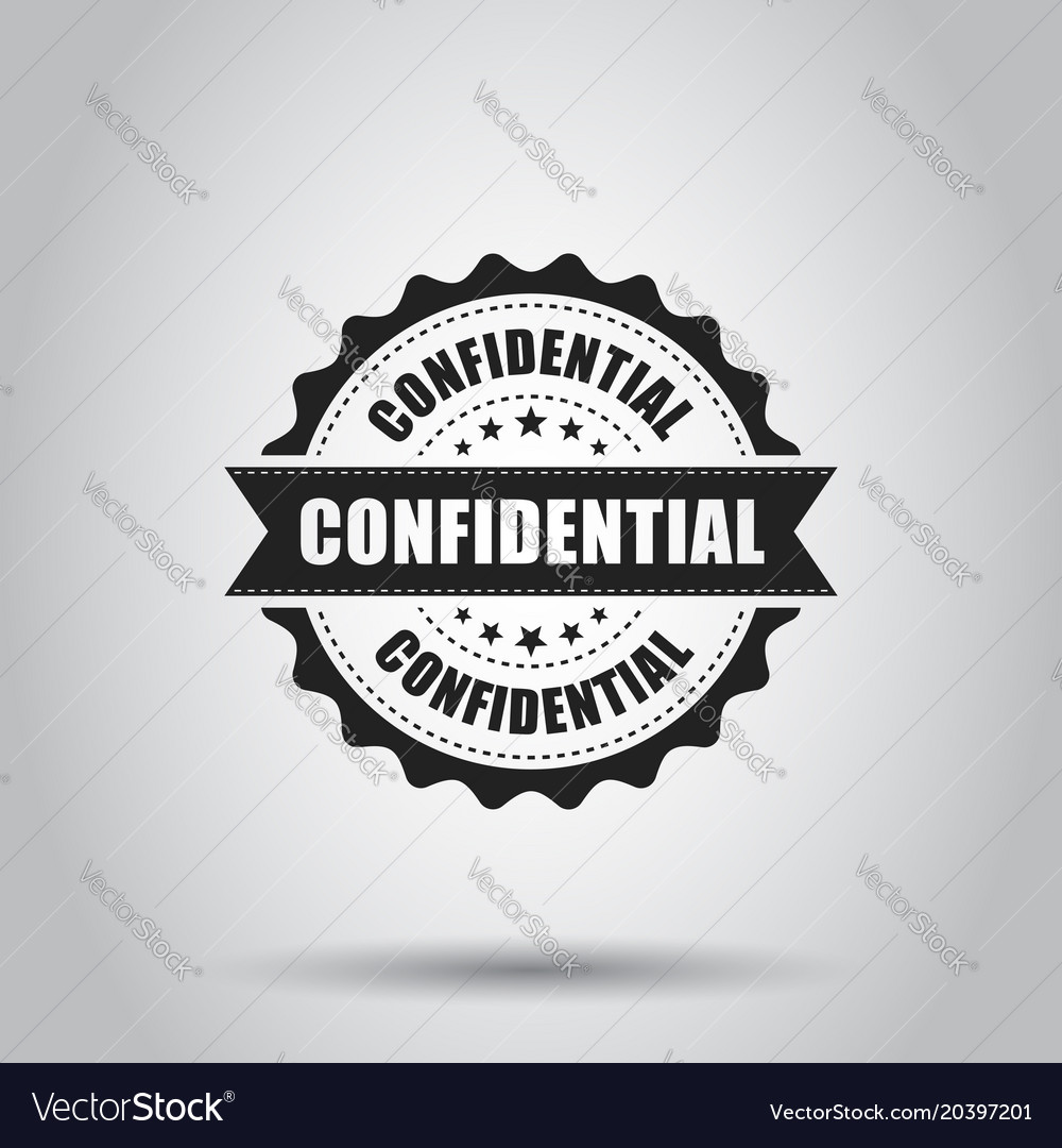 Confidential grunge rubber stamp on white