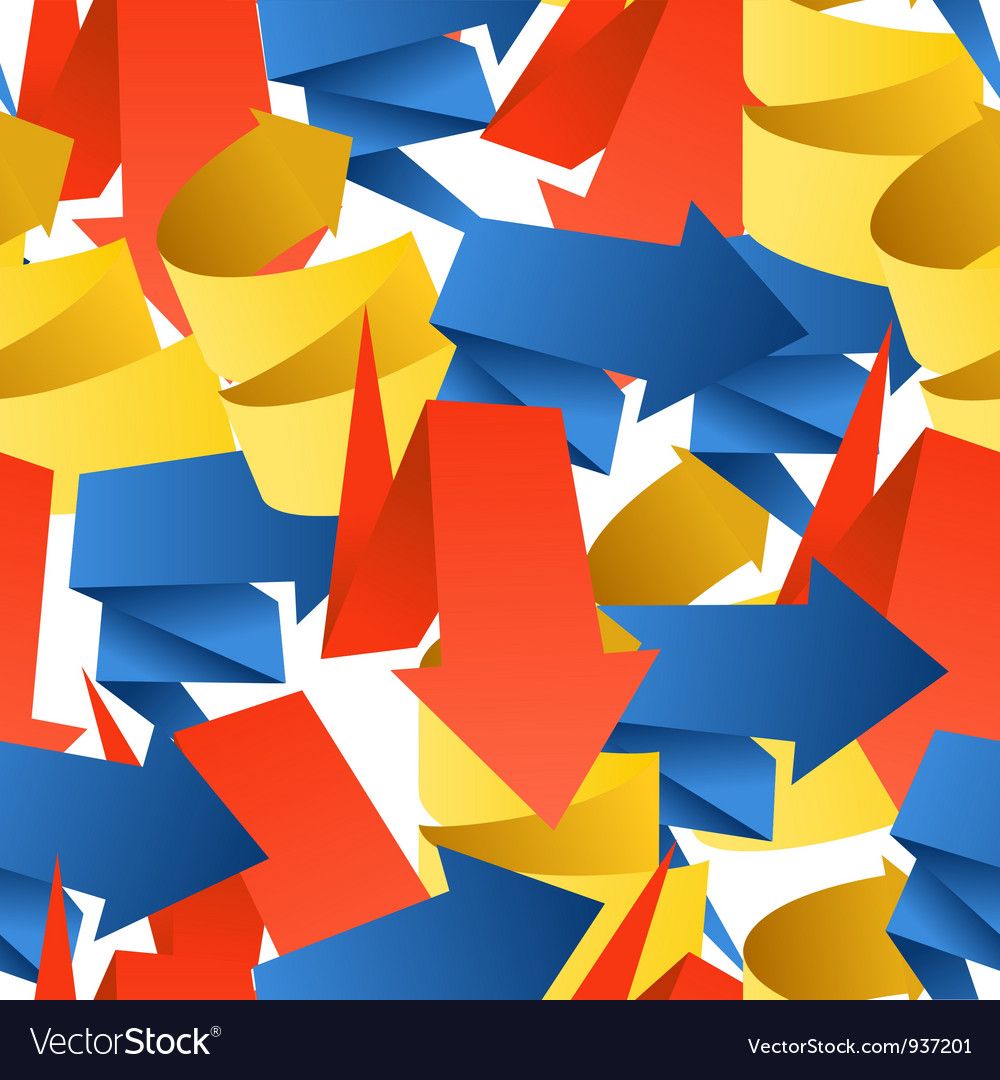 Folded Arrows Background vector image