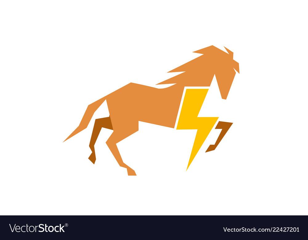Horse Power Botl Symbol Logo Royalty Free Vector Image