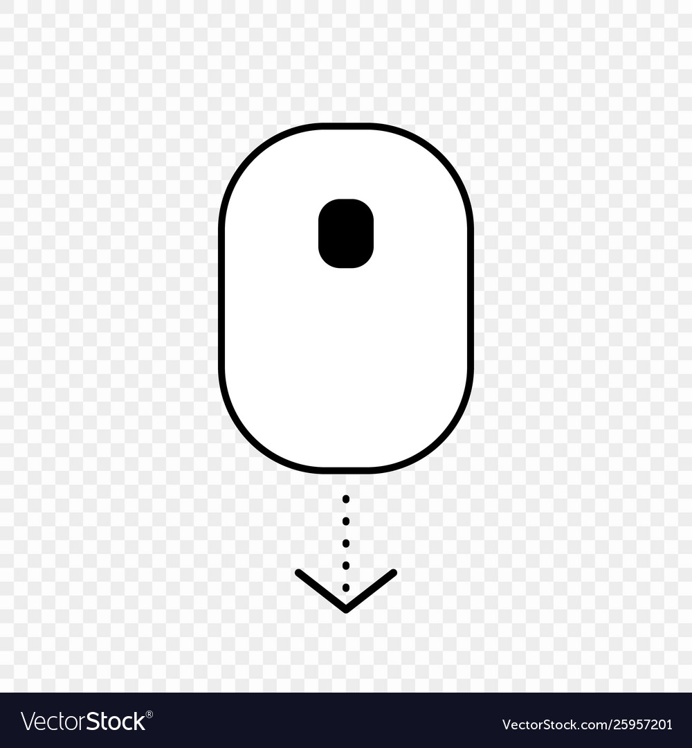 Scroll down computer mouse icon