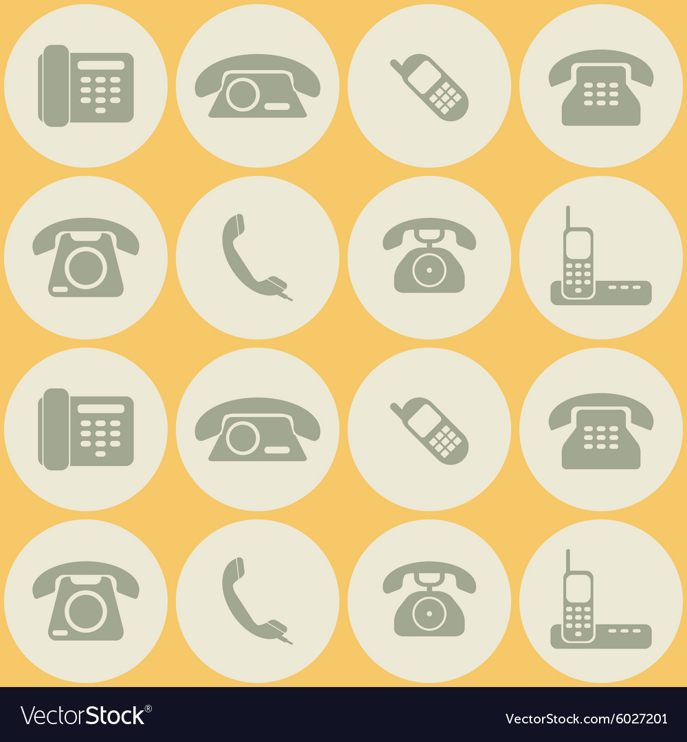 Seamless background with telephone icons