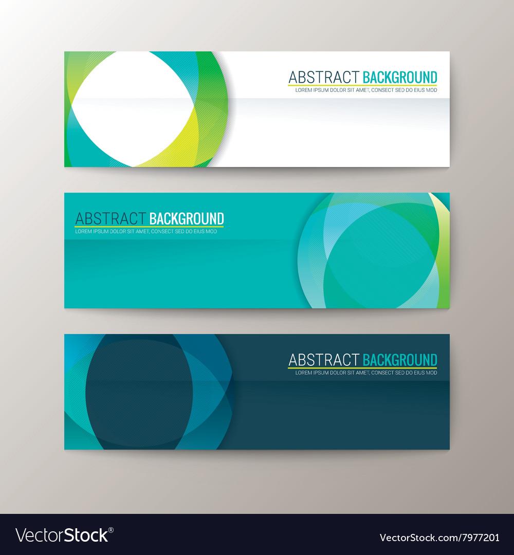 Set of modern design banners template