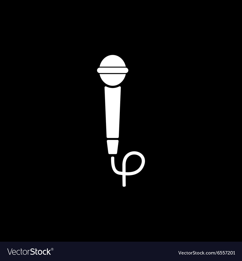 The microphone icon Sound symbol Flat