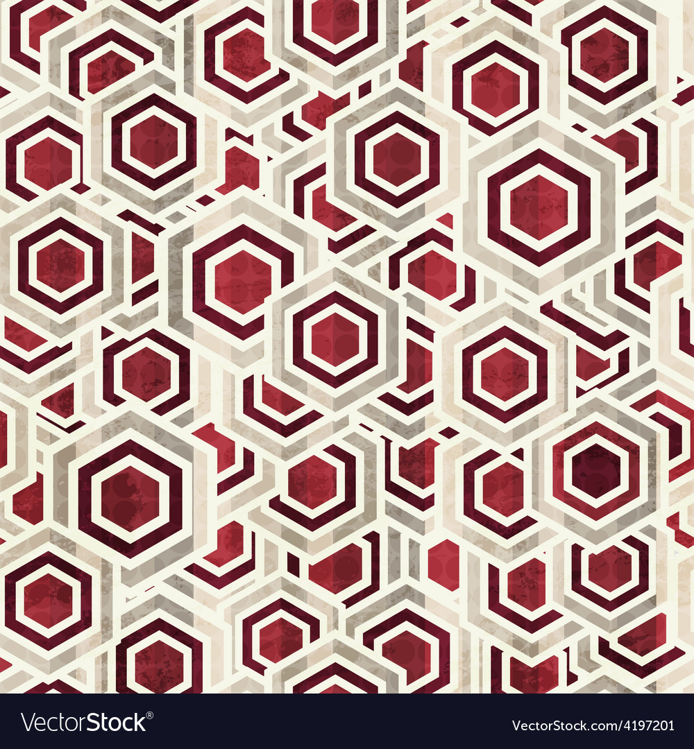 Vintage rhombus white and red color seamless