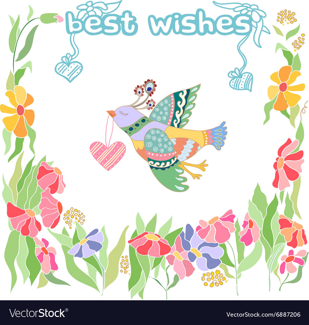 Best wishes greeting card royalty free vector image best wishes greeting card vector image m4hsunfo