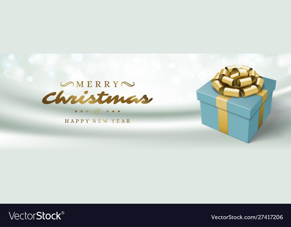 Christmas banner horizontal design template with