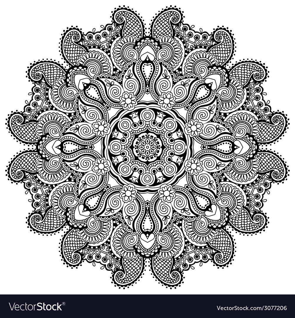 Circle lace ornament round ornamental geometric