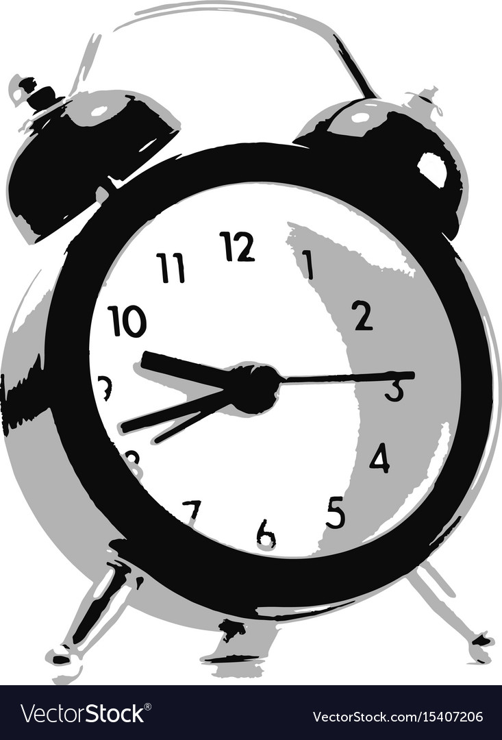 Clock on isolated white